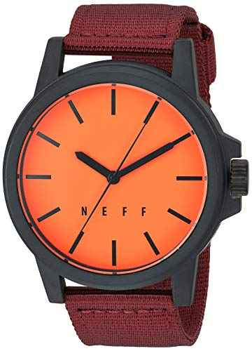 neff Men's Analog-Quartz Sport Watch with Stainless-Steel Strap, Multi, 22 (Model: NF0242-1)