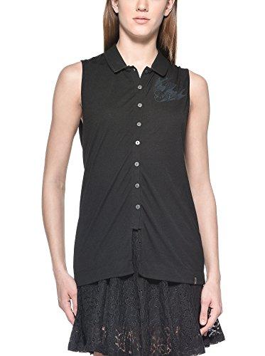 - Diesel 55DSL Women's Sleeveless Button Up Ticollar Veste Black S