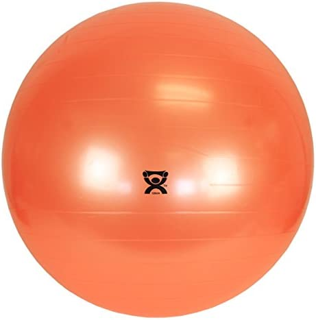 Eif CanDo Non-Slip Vinyl Inflatable Exercise Ball, Orange, 47.3