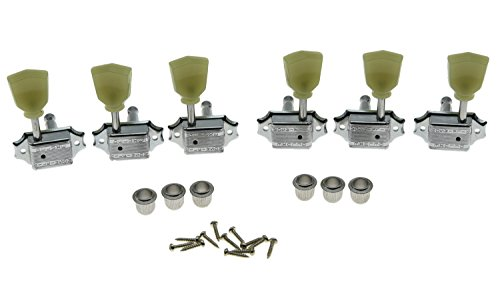 - Wilkinson Chrome 3x3 Deluxe Vintage Tuners Tuning Keys Machine Head for Les Paul