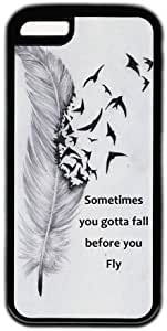 Sometimes You Gotta Fall Before You Fly Characteristic Quote Iphone 5C Case by runtopwell