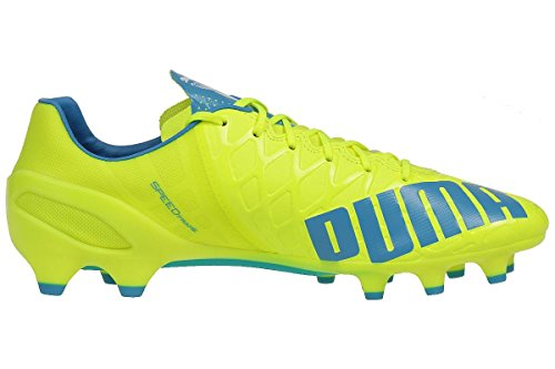 Puma Evospeed 1.4 FG, Scarpe da Calcio Uomo safety yellow-atomic blue-white 04