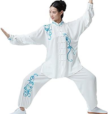 ShanRen Sports Women's Kung Fu Tai Chi Uniform Embroidery Cotton Silk