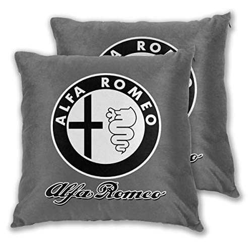 XIA WUEY Alfa Romeo Logo Square Throw Pillow Case Decorative Cushion Covers Daily Sofa Throw Pillow Case for Couch, Sofa, Office Chairs, Cars, Bars 18