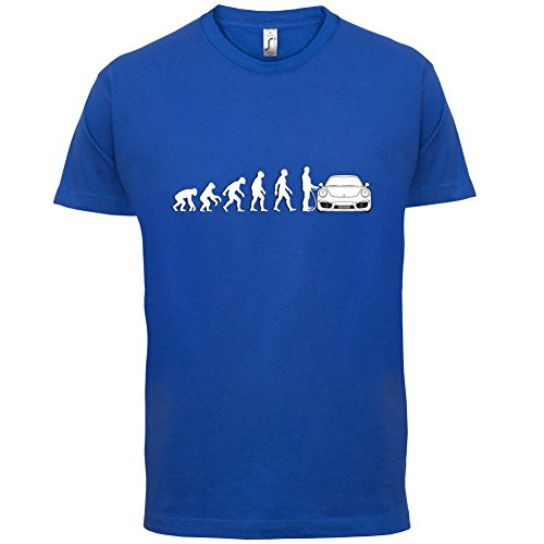 Evolution of Man - 911 Fahrer - Herren T-Shirt - Royalblau - XXXL