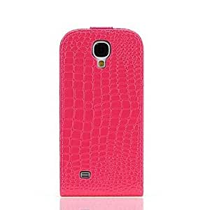 TOPQQ Crocodile Grain PU Leather Full Body Case for Samsung Galaxy S4 I9500 , Pink