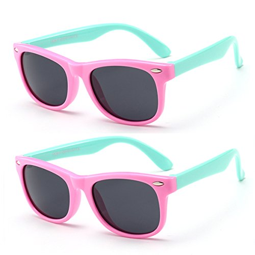 Juslink Toddler Sunglasses, 100% UV Proof Flexible Baby Sunglasses for Kids Age ()