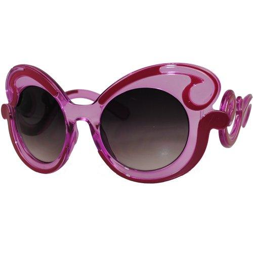4ad846ec1c7 EF Oversized High Fashion Two Tone Sunglasses w  Baroque Swirl - Import It  All