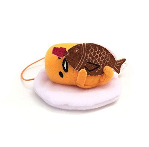 Sanrio Gudetama Lazy Egg Strap Plush Mascot ~ Gudetama with Fish ~ Sauce Series Type B -