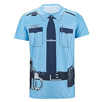 Funny World Men's Police Cop Uniform T-Shirts