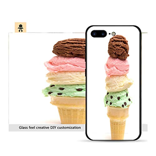- iPhone 7p / 8p Ultra-Thin Phone case Quadruple Stack of Ice Cream Scoops on a Sugar Cone Resistance to Falling, Non-Slip, Soft, Convenient Protective case