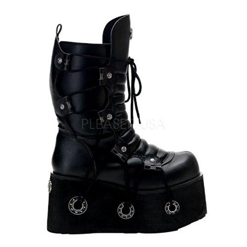 Demonia Furious-201 - gothique Industrial plateau bottes chaussures unisex 36-45, US-Herren:EU-40/41 (US-M8)