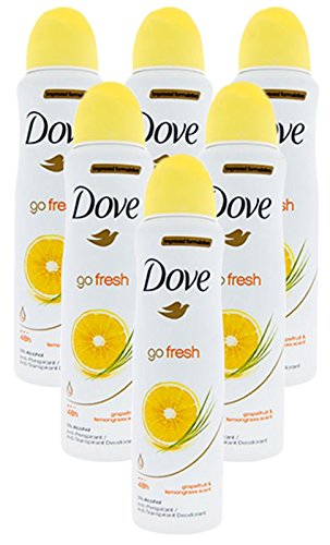Deodorant Spray Grapefruit & lemongrass Scent (6 Can)     ()