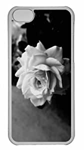 Customized iphone 5C PC Transparent Case - Cute Rose Personalized Cover