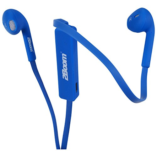 2BOOM Sportsbud Wireless Bluetooth Rechargeable Earbud Headphones With Microphone – Blue