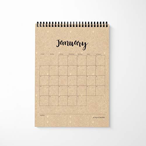 2019 12 Month Calendar 8.5x11