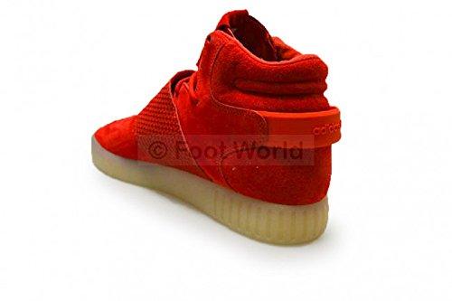 Bb5039 Strap Vintage Baskets White Adidas Homme Gris Originals Sneaker Tubular Invader Chaussures Red Wildleder Top BBZtq6T7