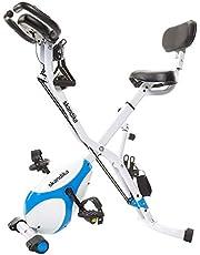 Skandika Foldaway X-1000 lite/X-2000 /X-3000 fitnessbike hometrainer X-Bike F-bike inklapbaar met handpulssensoren - ergometer - hometrainer - opvouwbare fitnessfiets