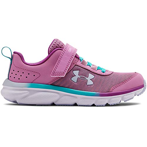UNDER ARMOUR Kids' Pre School Assert 8 Alternate Closure Sneaker, Icelandic Rose (500)/Breathtaking Blue, 3