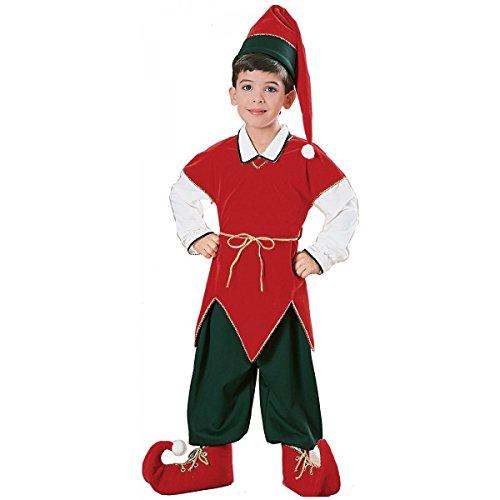 Baoer Children`s Velvet Elf Suit Costume - Medium (Velvet Elf Suit Costume)