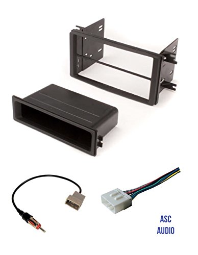 premium asc car stereo radio install dash kit, wire harness, - import it all