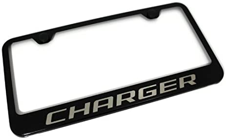 Amazon.com: Dodge Charger Black Gloss License Plate Frame: Automotive