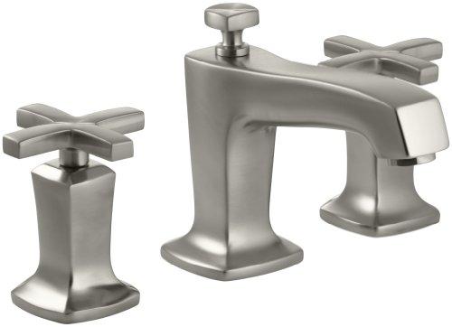 KOHLER K-16232-3-BN Margaux Widespread Lavatory Faucet, Vibrant Brushed Nickel