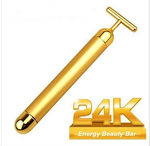 SKYNDI Beauty Bar 24k Golden Pulse Facial Massager, Instant Face Lift, Anti-Wrinkles,Skin Tightening, Face Firming, Eliminate Dark Circles