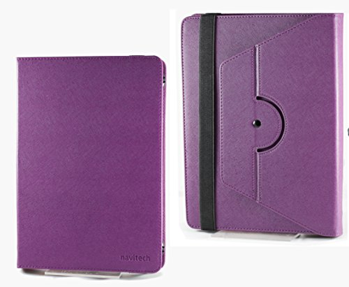"Navitech Purple Faux Leather Case Cover Sleeve Compatible With The Nook HD 7"" inch ereader Tablet"