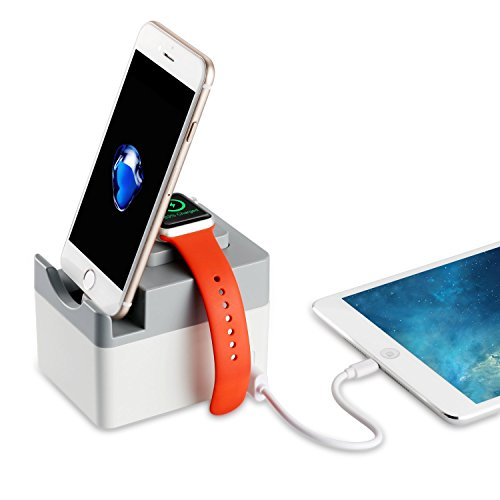 Apple Watch Charging Stand, Upow 3-Port Multi-functional ...