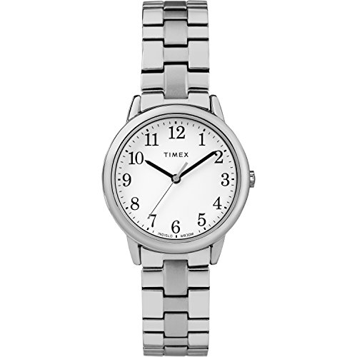 (Timex Women's TW2R58700 Easy Reader 31mm Silver-Tone Stainless Steel Expansion Band Watch)