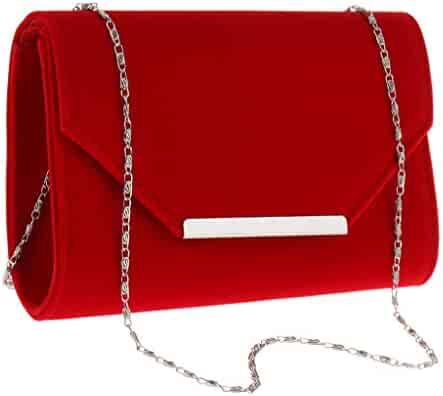 dbdea3585719 Shopping Suede - Reds - Clutches & Evening Bags - Handbags & Wallets ...