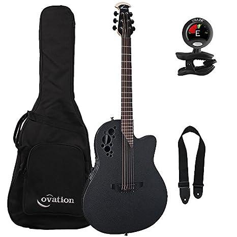 Ovation 1868tx-5 negro, Elite TX Super Shallow acoustic-electric ...
