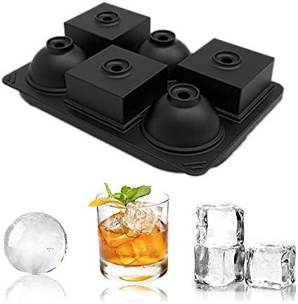 Olywee Cubitera de silicona para cubitos de hielo, reutilizable, sin BPA, forma cuadrada y esférica para alimentos de bebés, whisky, cócteles, bebidas, cervezas.