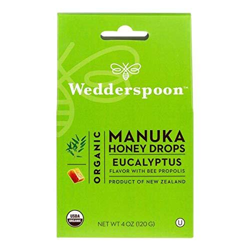 Wedderspoon Organic Manuka Honey Lozenges with Eucalyptus and Bee Propolis, 4 Ounce