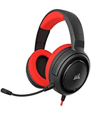 Corsair HS35 - Stereo Gaming Headset - Discord Certified - Memory Foam Earcups - Works with PC, Xbox Series X, Xbox Series S, Xbox One, PS5, PS4, Nintendo Switch and Mobile – Red