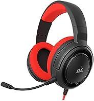 Headset Gamer Corsair HS35 P2 Stereo 2.0 Para PC, Mac, Xbox One, PS4, Switch, iOS e Android - Preto e Vermelho