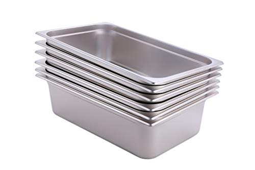 Hakka 1/1 Size Stainless Steel Gastronorm Pans,2.5