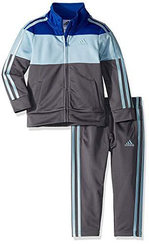 adidas Boys' Little Tricot Jacket and Pant Set, Block ADI Dark Royal -