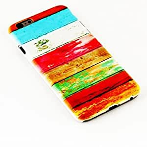 MOFY-Patr—n de la moda zorro pluma TPU suave para el iphone 6 caso de 4.7 pulgadas