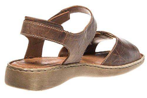 marrone cinturino alla 01 da 234 Seibel caviglia Lisa corteccia donna Sandalo Josef OFqIUXzU