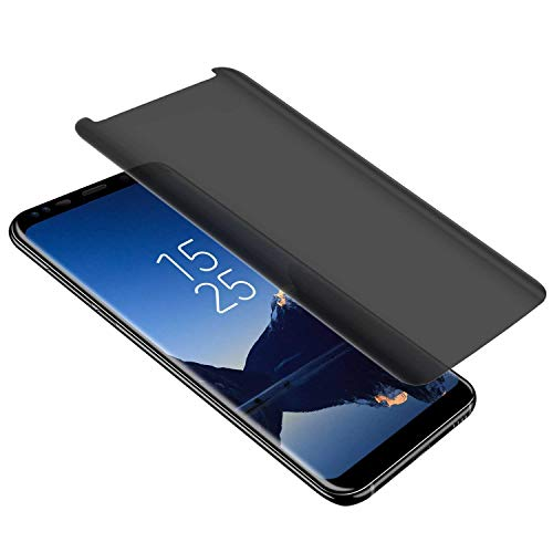 Galaxy S8 Privacy Tempered Glass Anti-Spy Screen Protector [3D Curved] [Case Friendly] [9H Hardness ] Compatible with Samsung Galaxy S8