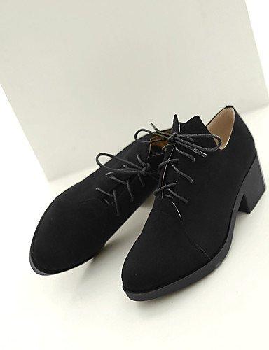 ZQ hug Zapatos de mujer - Tacón Bajo - Comfort - Planos - Oficina y Trabajo / Vestido / Casual - Semicuero - Negro / Amarillo , yellow-us9 / eu40 / uk7 / cn41 , yellow-us9 / eu40 / uk7 / cn41 black-us6.5-7 / eu37 / uk4.5-5 / cn37