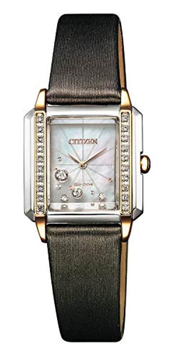 [해외] [시티즌] 손목시계 시티즌 L 에코・드라이기이브 다이아몬드 스퀘어 케이스 화이트접패문자판 EG7068-16D 레이디스 브라운