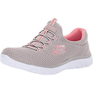 Skechers Summits Womens Slip On Bungee Sneakers Taupe 8.5 W