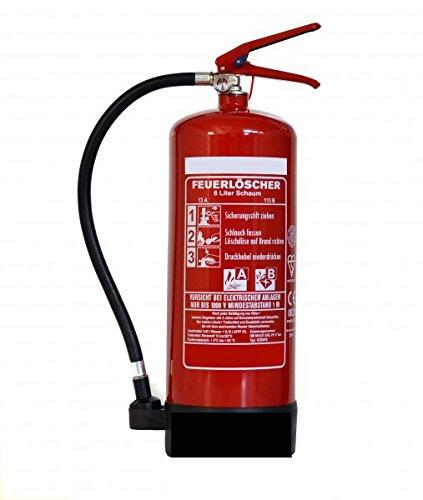 Feuerlö scher 6 Liter Schaum EN3 Norm mit Halterung Vertrieb Andris Brandschutz