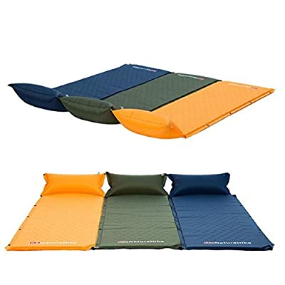 Sleeping Pads,Cido Self-Inflating Camping Sleeping Pad, Quick Flow Valve, with Attached Inflatable Pillow,190T Polyester