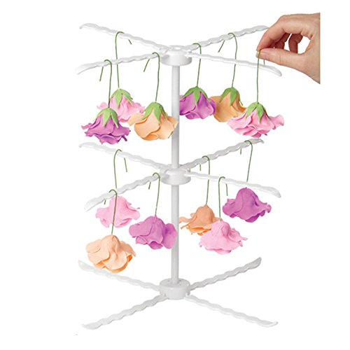 Funnytoday365 3 Tiers Sugar Paste Flower Drying Rack Detachable Cupcake Icing Gum Baking Hanging Diy Cake Tools Fondant Decoration