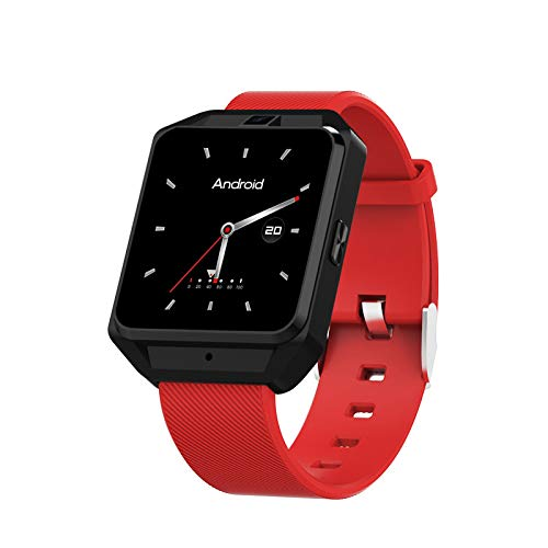 LEERYAAY Smart Watch 1.54 Inch GPS Positioning SOS Pedometer Heartrate Sensor for Android Red