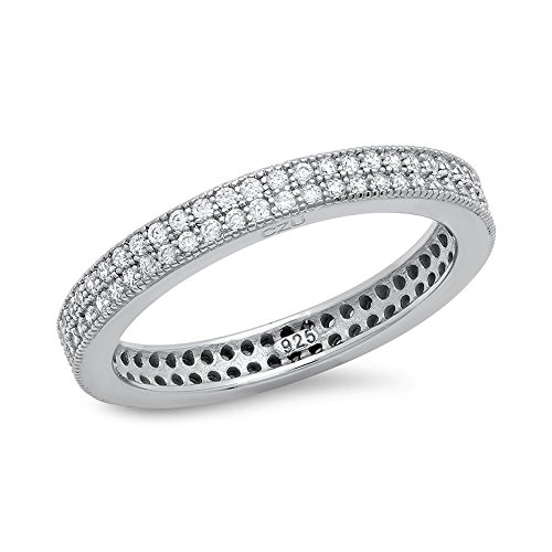 dtla Micro Pave CZ Bracelet en argent sterling